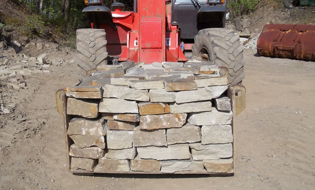 Typical box of drystone walling, ready for delivery.
